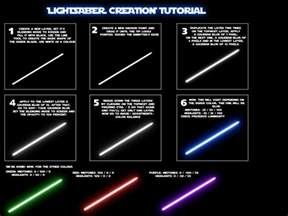 different colored lightsabers photoshop tutorial lightsaber effect wbd