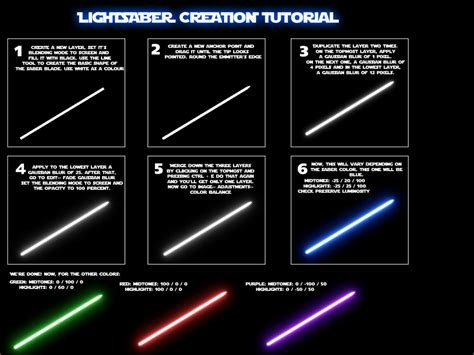 lightsaber color meaning photoshop tutorial lightsaber effect wbd