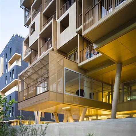 golden cube student housing complex by hamonic masson