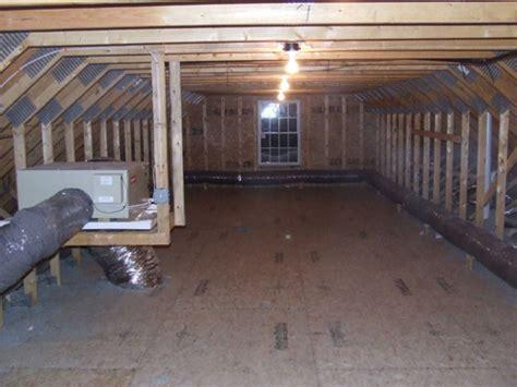 creating storage room  attic trusses home