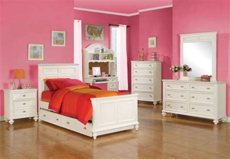 Acme Furniture Athena Transitional Youth White 5 Piece Twin Bedroom Set 3000