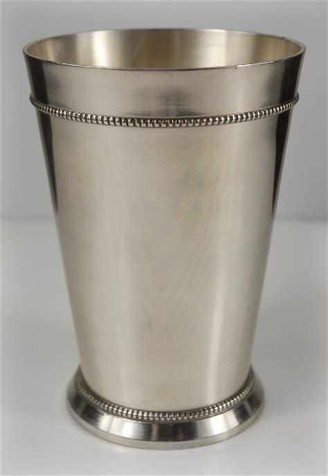 mint julep vase silver plated 5 75in