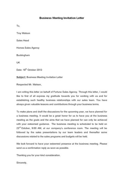 Business Letter Of Invitation Pdf ideas collection invitation letter business meeting about