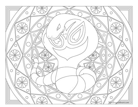 pokemon coloring pages arbok 024 arbok pokemon coloring page 183 windingpathsart com