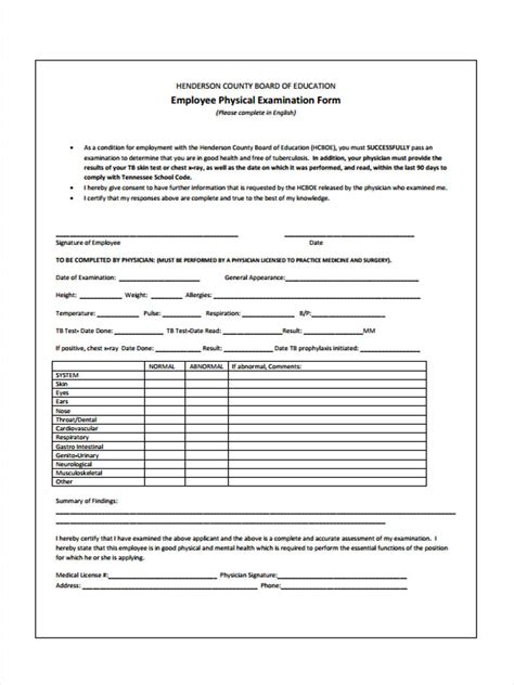 sample physical exam form 8 documents in pdf dinosauriens info