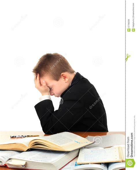 Sad Desk L by Sad Kid On The School Desk Stock Photo Image 57790239