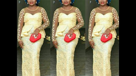 kord lace nigeran lace styles latest mind blowing ankara aso ebi gown lace styles for