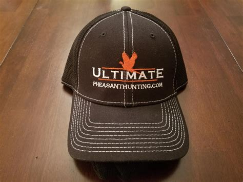new era fitted black hat ultimate pheasant