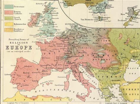the nineteenth century europe religion map mid 19th century scottish map of world religion