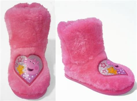 pig house shoes peppa pig slipper boots 163 3 99 argos