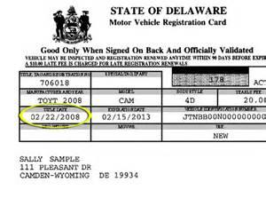 dmv new car registration state of delaware division of motor vehicles