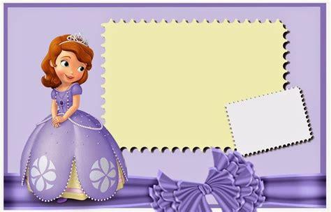 frame design sofia sofia the first free printable invitations cards or photo