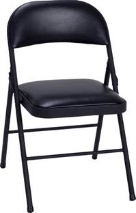 cosco products cosco vinyl folding chair black