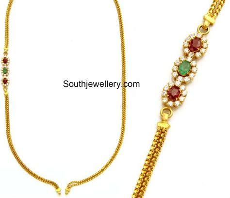 gold black chains models thali chain models with mugappu jewellery designs