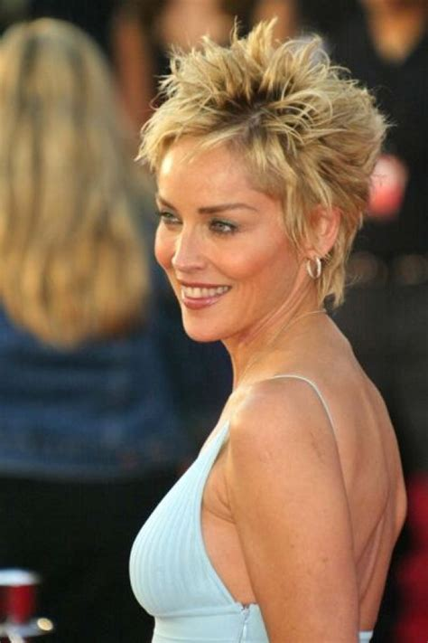 Sharon Stone Hairband | 17 best images about short hair on pinterest frances o