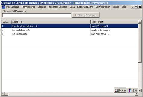 buscador de proveedores cif sistema automatizado para clientes inventario