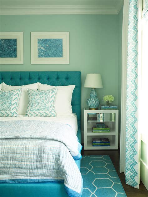 aqua themed bedroom phoebe howard house of turquoise