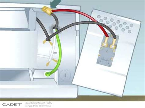 single pole thermostat wiring diagram 120 volt baseboard
