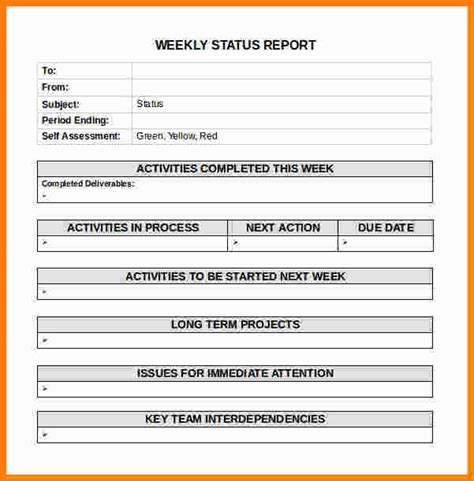 how to write a weekly report template 12 simple activity progress report template ledger paper