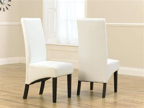 White Leather Dining Chairs Canada Furniture White Leather Dining Room Chairs Canada 5 To Spice Up Regarding Brilliant House