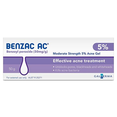 Ac Gel buy ac 5 moderate acne gel 50 g by benzac priceline