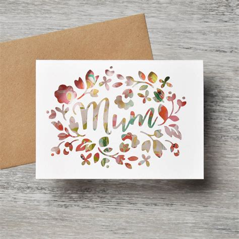 pattern paper greeting card mothers day paper cut greeting card by mint nifty