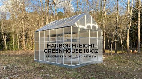 harbor freight greenhouse  progress video
