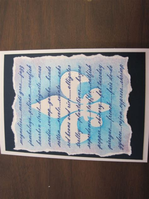fleur de lis skin rip on blue background on fleur de lis 3044