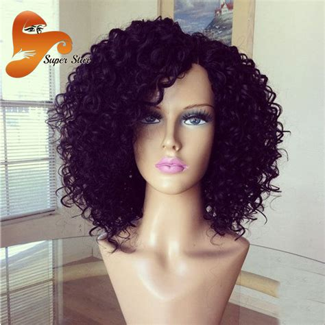 women of color curly full hair weaves with bangs curly full lace human hair wigs with baby hair glueless