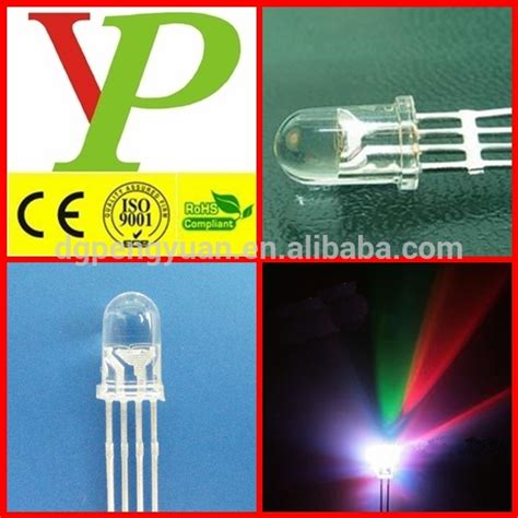 led diode factory 8mm rgb led diode straw hat flat top rgb led diode china factory view rgb led dgpy