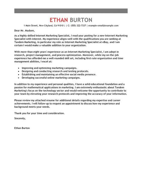 best online marketer and social media cover letter