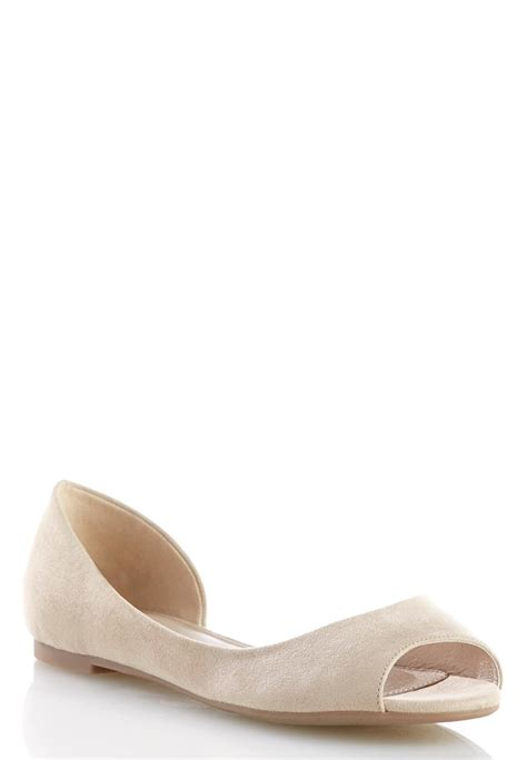 peep toe flat shoes peep toe flats flats cato fashions