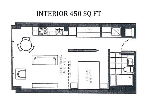 450 sq ft apartment 450 square foot apartment floor plan simple 450 square