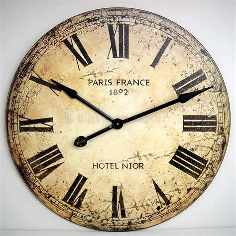 very large wall clock 75cm bliss and bloom ltd