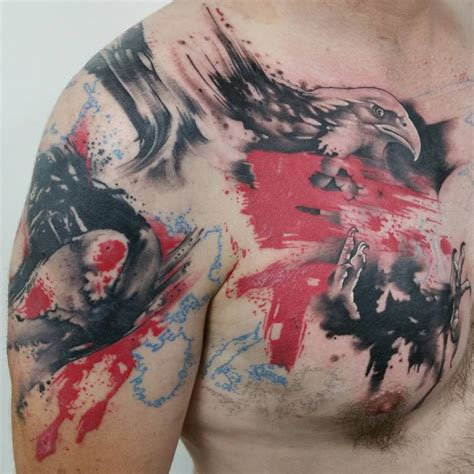 tattoo eagle color 45 inspiring eagle tattoo designs and meaning spread