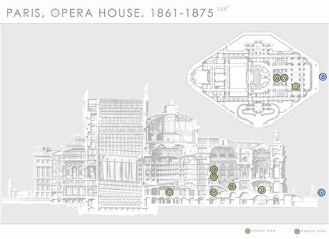 opera house section paris opera house 1861 1875 360 department of art