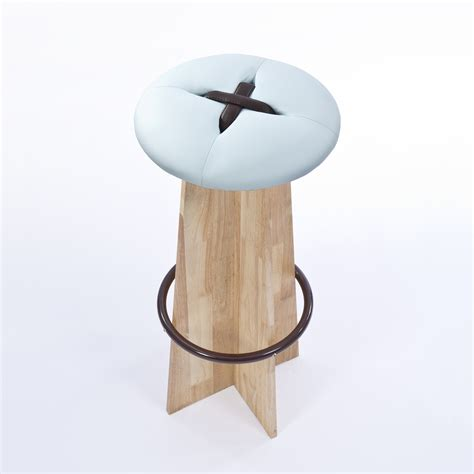 Light Brown Mushy Stool by Bottone Alto Stool Light Blue Brown Bozu