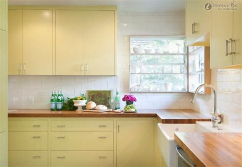 butter yellow kitchen cabinets 40 colorful kitchen cabinets to add a spark to your home