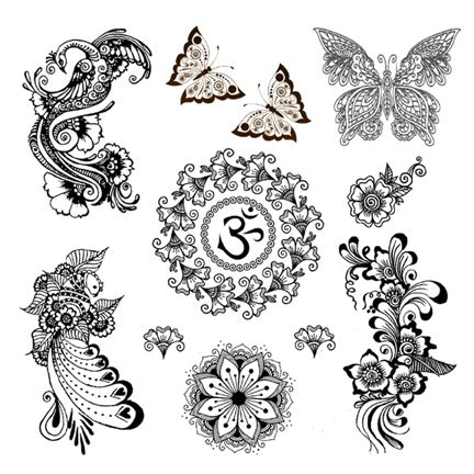 om henna tattoo black mehndi henna assorted temporary tattoos om peacock