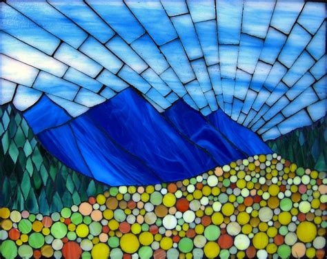 mosaic pattern landscape vibrant stained glass mosaics of classic american landscapes