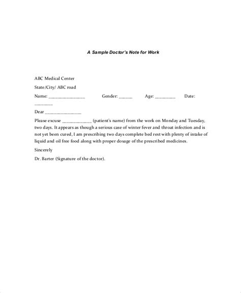doctors note template 11 free word pdf psd documents