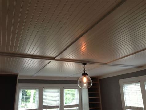Alternative Basement Ceiling Ideas by Cover Up Popcorn Ceilings With Inexpensive Beadboard