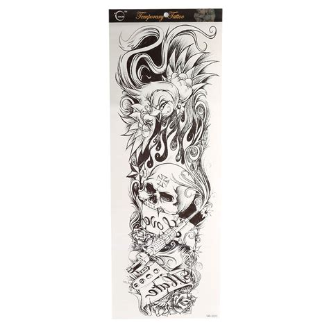 henna tattoo full arm large arm sleeve temporary stencil sticker