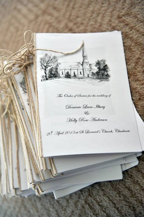 Church Wedding Book Covers by A Thrifty Way To Make Your Order Of Service Type Out The