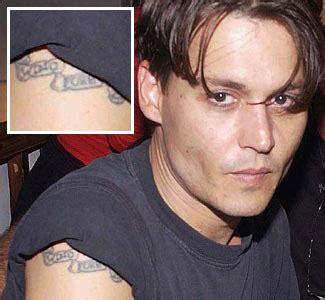 Johnny Depp Girlfriend Tattoo | entertainment mood secrets behind celebrity ink