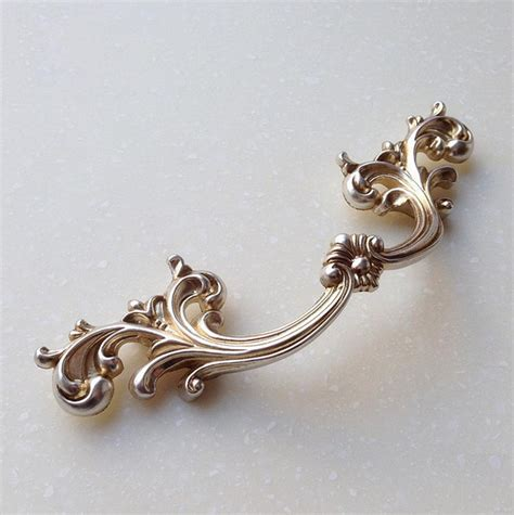 Vintage Dresser Hardware Drawer Pulls by Antique Silver Handles Shabby Chic Dresser Drawer Pulls
