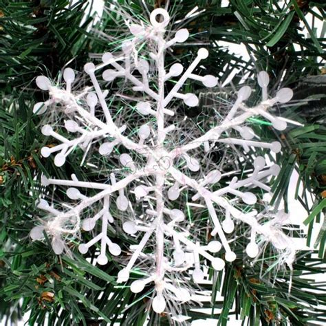 uk 30pcs christmas white snowflakes decorations xmas tree