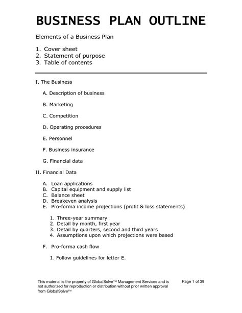 basic business plan template pdf easy business plan template beepmunk