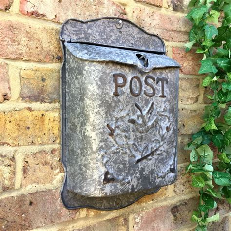 old style l post vintage style post box wall mounted letterbox