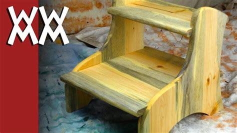 sturdy easy  build  step step stool youtube